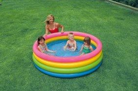 Детские бассейны надувные и с жестким каркасом Intex. Купить
